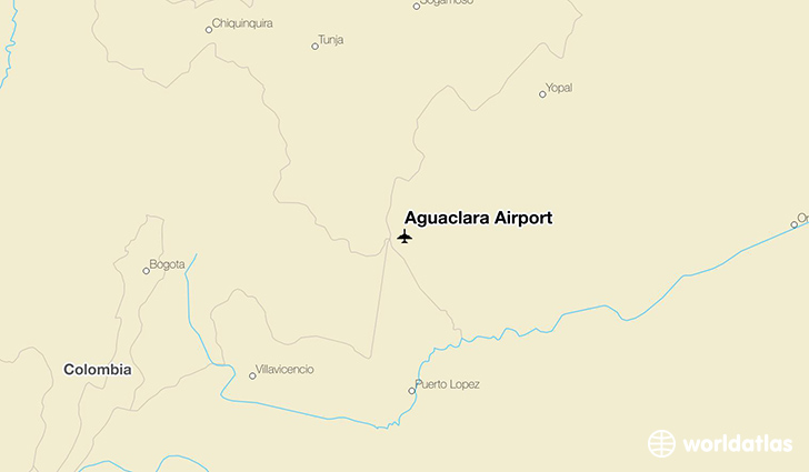 Aguaclara Airport location on a map