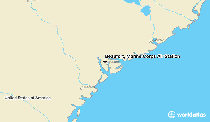 Beaufort, Marine Corps Air Station location on a map