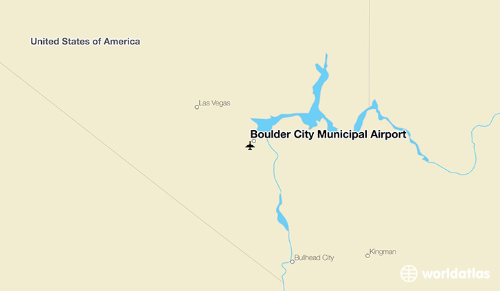 Boulder City Municipal Airport location on a map