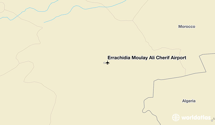 Errachidia Moulay Ali Cherif Airport location on a map