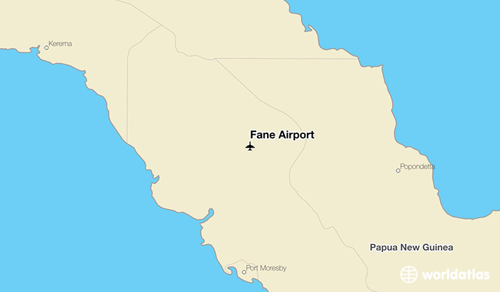 Fane Airport location on a map