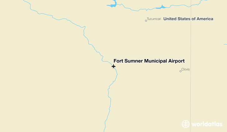 Fort Sumner Municipal Airport location on a map
