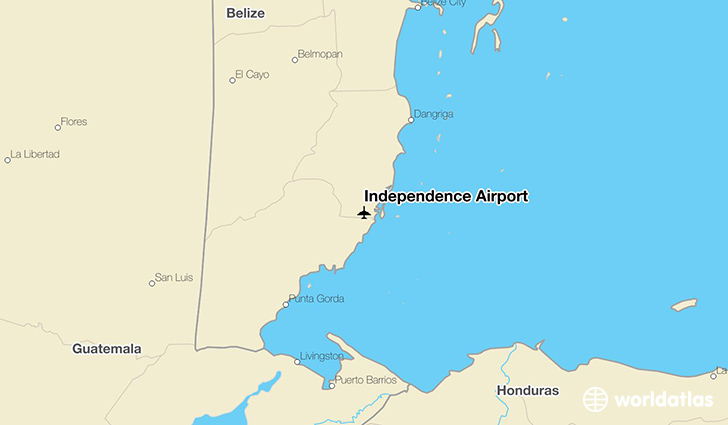 Independence Airport location on a map