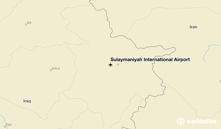 Sulaymaniyah International Airport location on a map