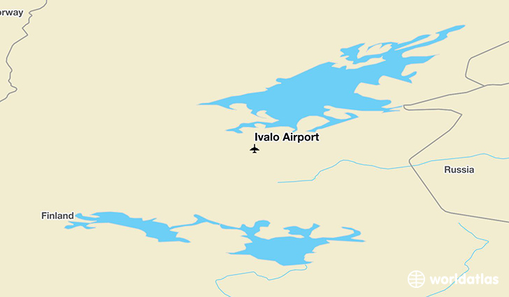 Ivalo Airport location on a map