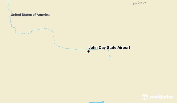 John Day State Airport location on a map