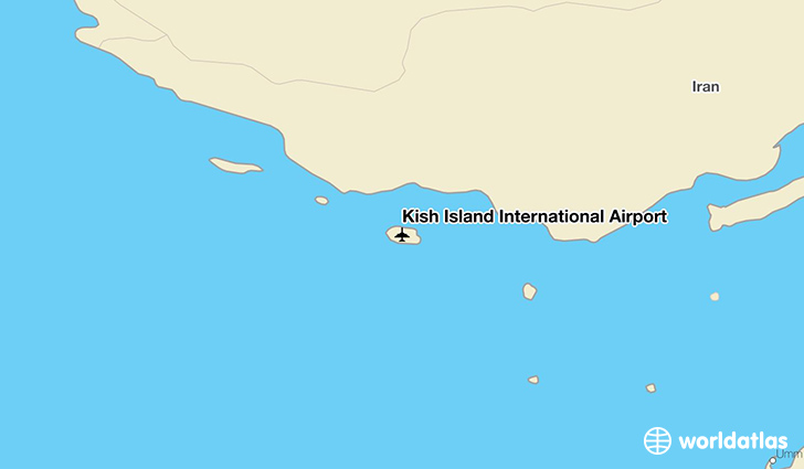 Kish Island International Airport location on a map