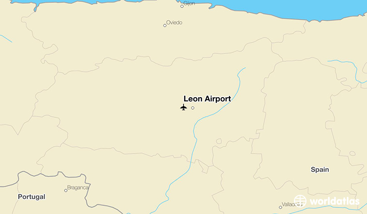 León Airport location on a map
