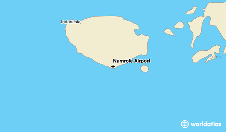 Namrole Airport location on a map