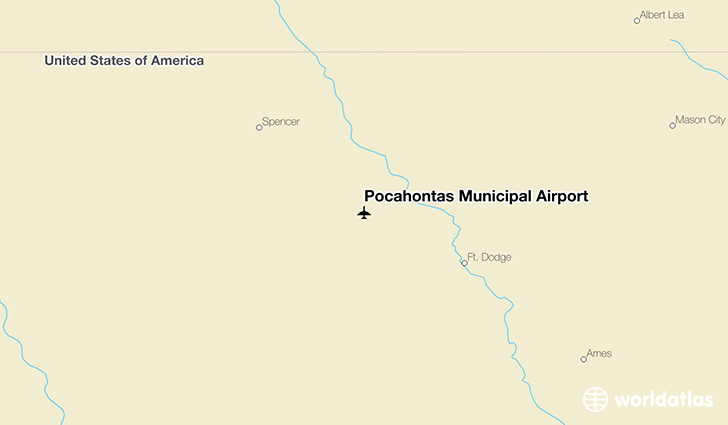 Pocahontas Municipal Airport location on a map