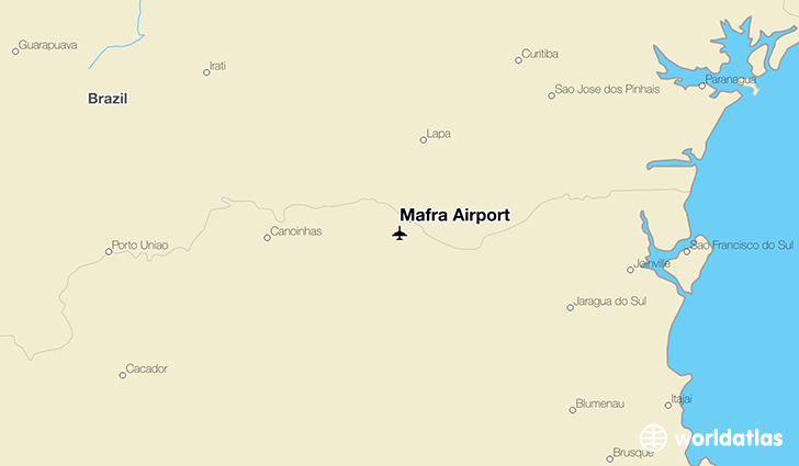 Mafra Airport location on a map