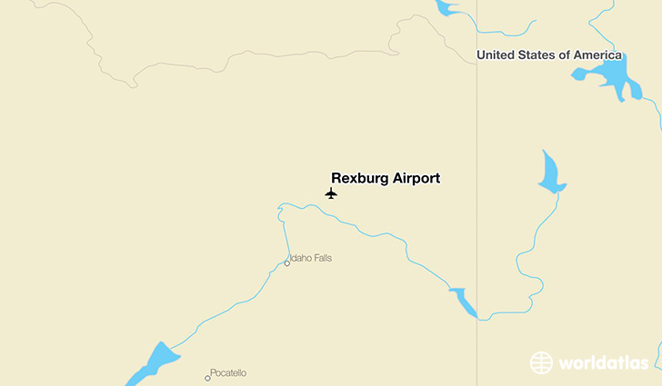 Rexburg Airport location on a map