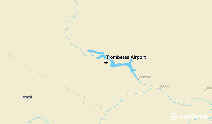 Trombetas Airport location on a map