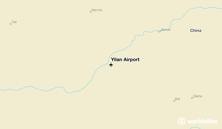Yilan Airport location on a map