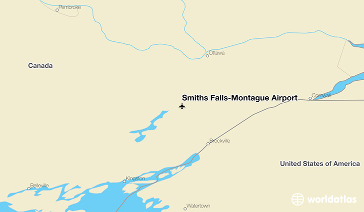 Smiths Falls-Montague Airport location on a map