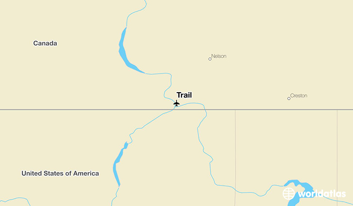 Trail location on a map