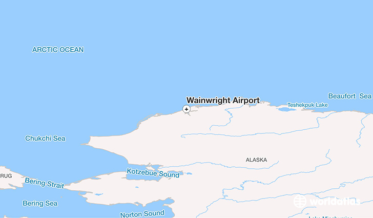 Wainwright Airport location on a map
