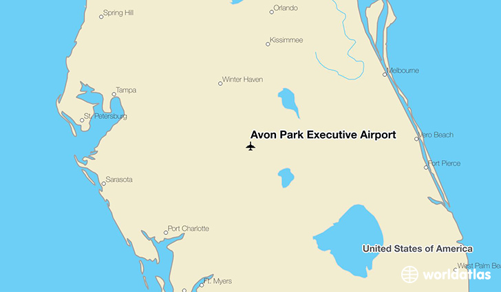 Avon Park Executive Airport location on a map