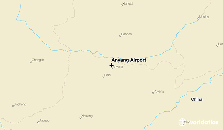 Anyang Airport location on a map