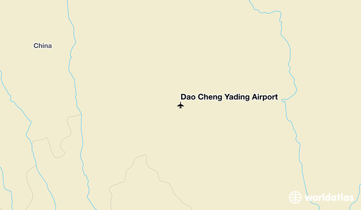 Dao Cheng Yading Airport location on a map
