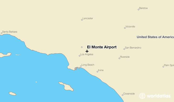 El Monte Airport location on a map