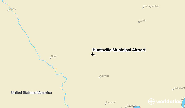 Huntsville Municipal Airport location on a map