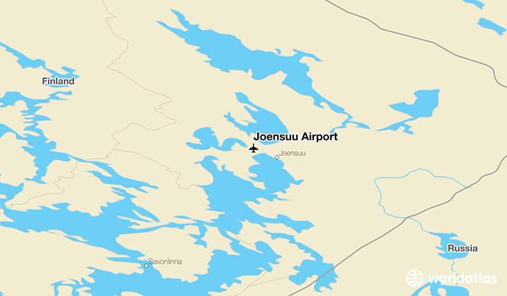 Joensuu Airport location on a map