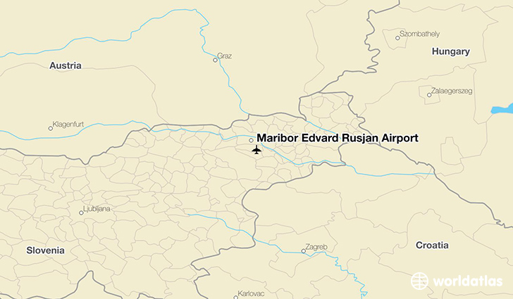 Maribor Edvard Rusjan Airport location on a map