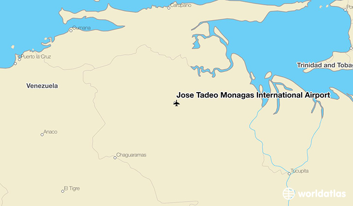 José Tadeo Monagas International Airport location on a map