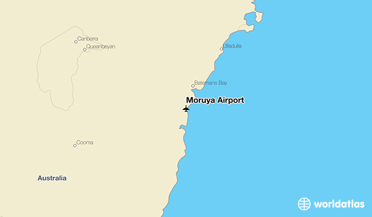 Moruya Airport location on a map
