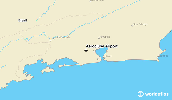 Aeroclube Airport location on a map