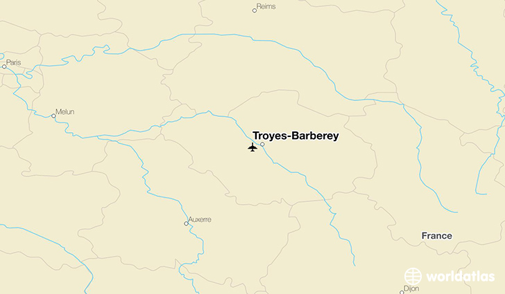 Troyes-Barberey location on a map