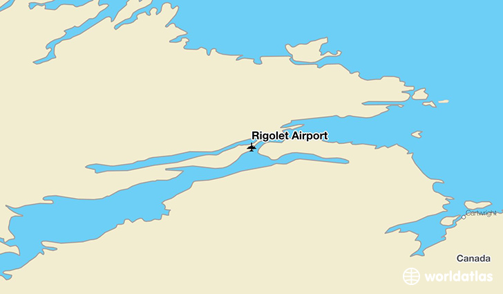 Rigolet Airport location on a map
