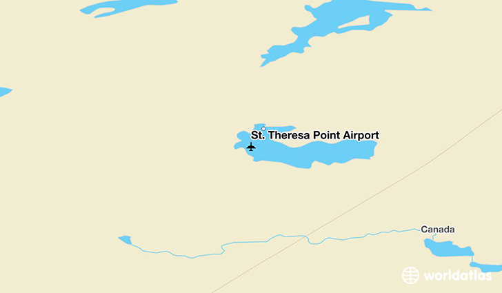 St. Theresa Point Airport location on a map