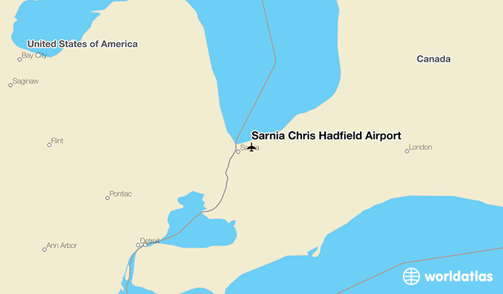 Sarnia Chris Hadfield Airport location on a map