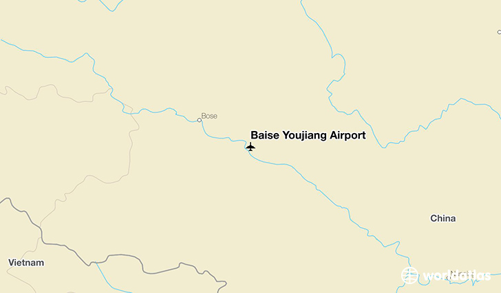 Baise Youjiang Airport location on a map