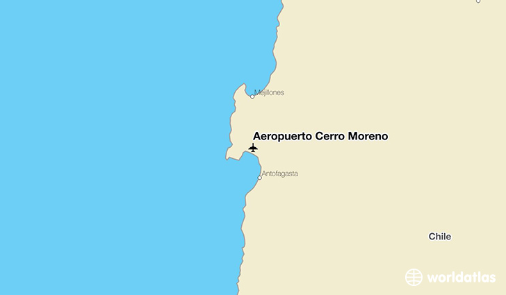 Aeropuerto Cerro Moreno location on a map