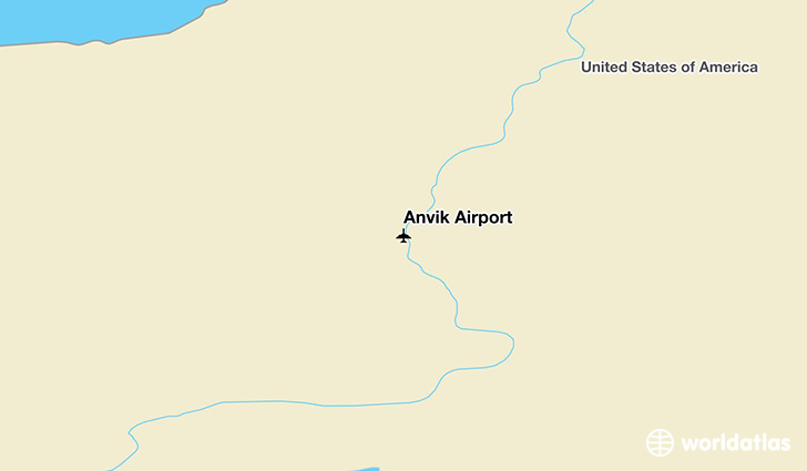 Anvik Airport location on a map