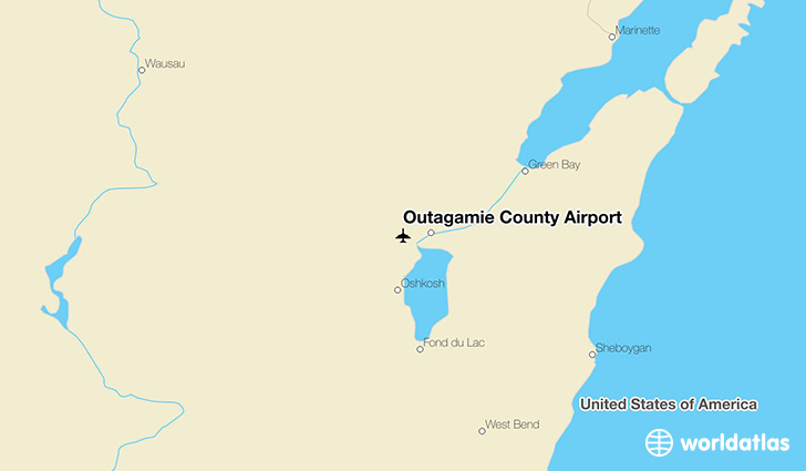 Outagamie County Airport location on a map