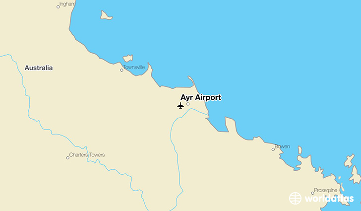 Ayr Airport location on a map