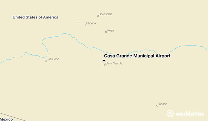 Casa Grande Municipal Airport location on a map