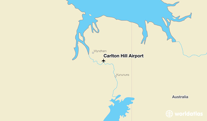 Carlton Hill Airport location on a map
