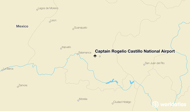 Captain Rogelio Castillo National Airport location on a map