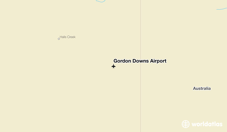 Gordon Downs Airport location on a map