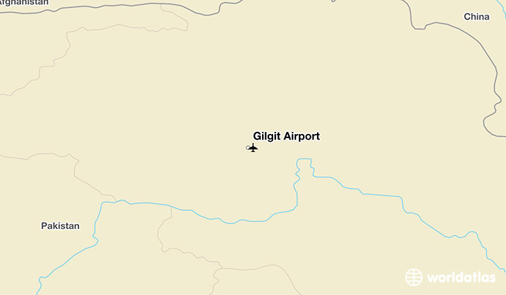 Gilgit Airport location on a map
