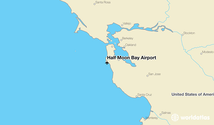 Half Moon Bay Airport location on a map