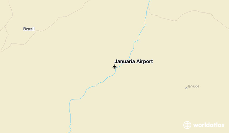 Januária Airport location on a map