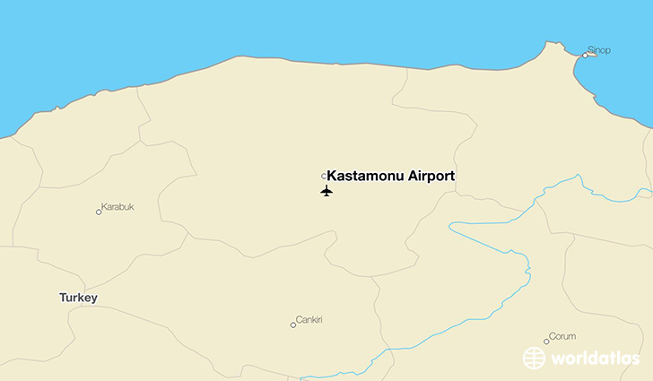 Kastamonu Airport location on a map
