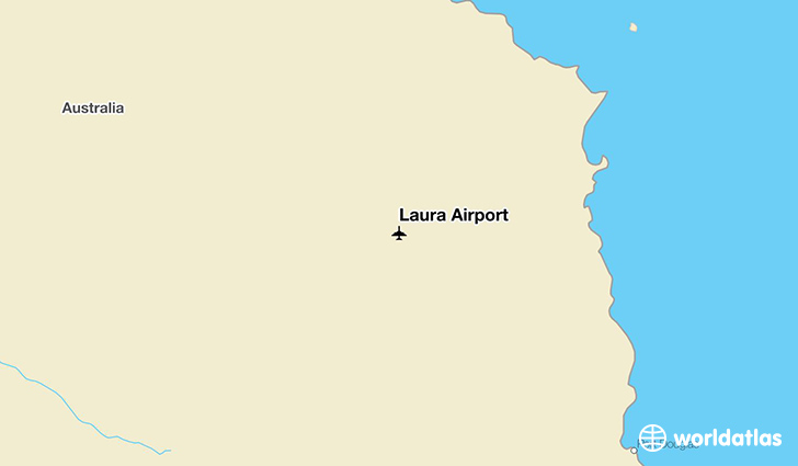 Laura Airport location on a map