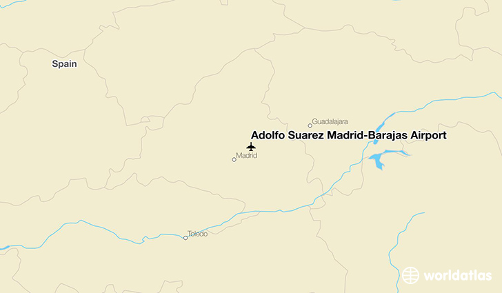 Adolfo Suárez Madrid–Barajas Airport location on a map